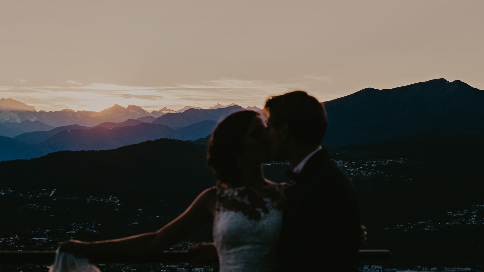 Lago Lugano, sunet, destination wedding,